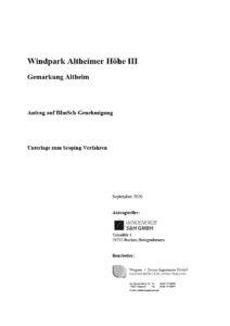 Scoping Dokument WP Altheim III